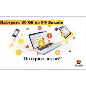 ИНТЕРНЕТ БИЛАЙН 30 GB